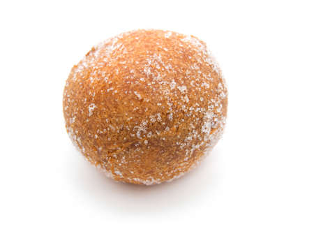 Fried doughnut on a white background  photo