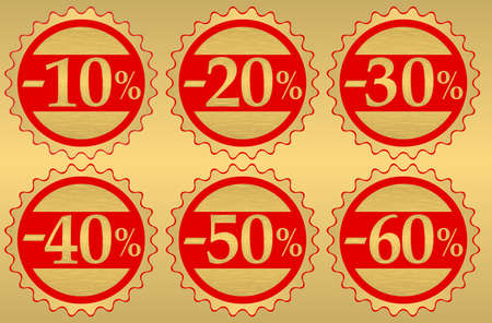 procent: Set of festive sale  tags