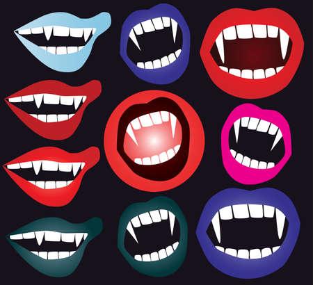 犬歯: 吸血鬼口のセット