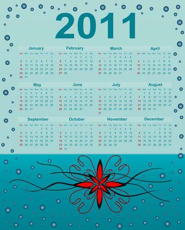 2011 Calendar. Abstract Background Vector
