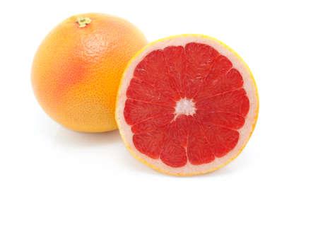 grapefruit on white background