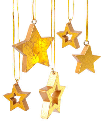Golden Christmas stars Stock Photo - 8009140
