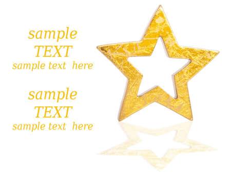 Gold star card Stock Photo - 8009137