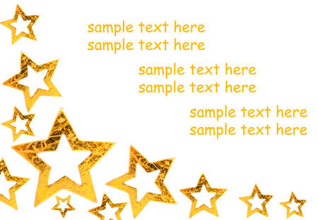Golden Christmas stars background, with room for text  Stock Photo - 8009175