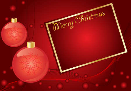 Abstract  red christmas  background, with room for text Stock Vector - 8009174