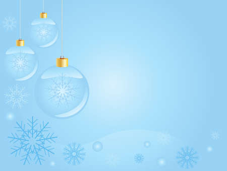 Abstract blue christmas  background, with room for text  Vector
