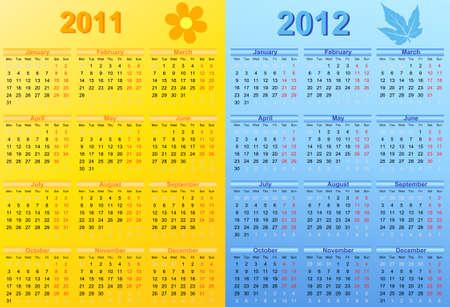 thursday: 2011 and 2012 Calendar.