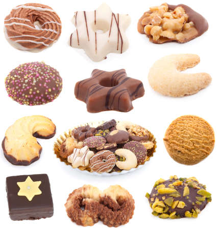 Christmas cookies collection isolated on white background Stock Photo - 8243114