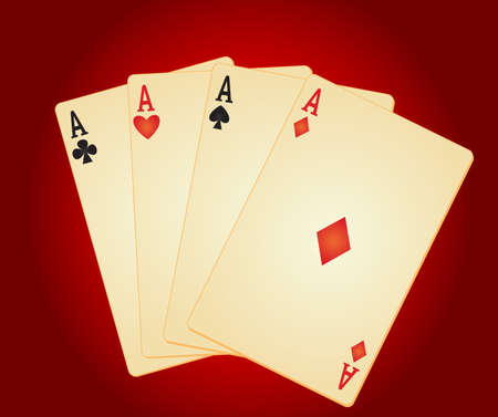 four objects: four aces