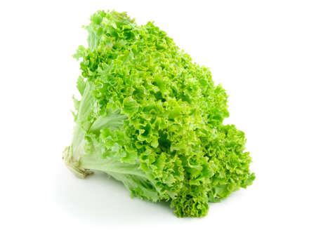 Fresh lettuce isolated on white background  photo