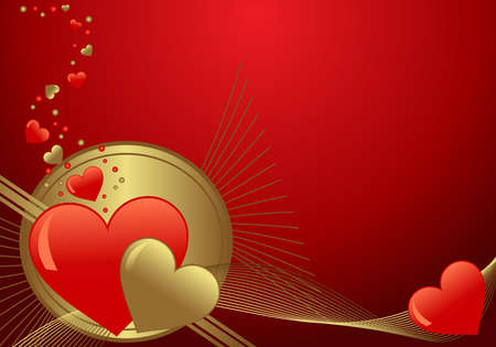 A valentines background with with room for text  Vector