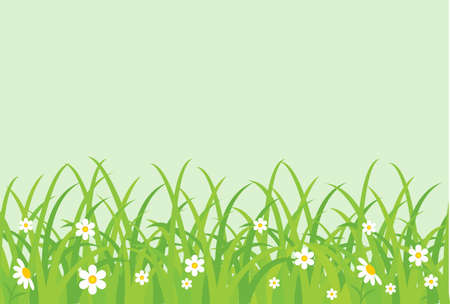 garden design: Grassy field. Vector illustration  Illustration
