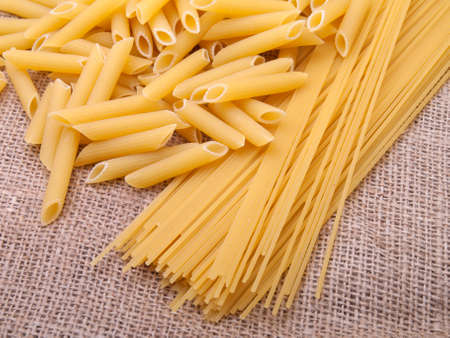series of images with pasta. Food background.  photo
