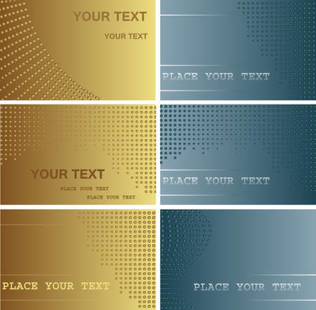 Set ofl business cards  Vector