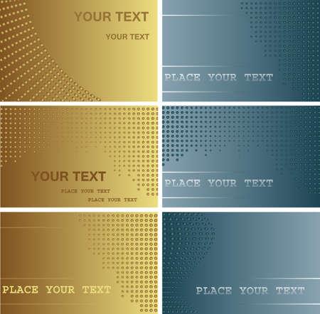 name card design: Set ofl business cards
