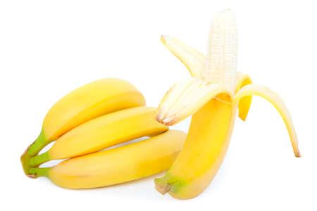 白い背景の上のバナナ