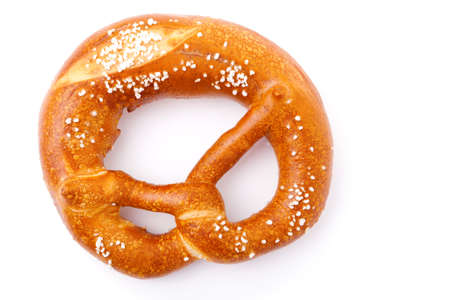 fresh German pretzel (Bretzel)  with salt Stock Photo - 9570429