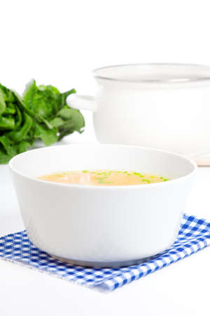 Vegetable soup, Isolated on white background photo