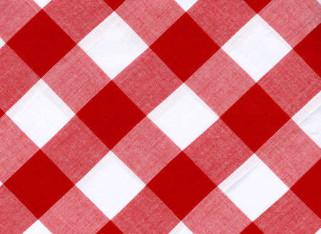 checkered: Tablecloth, can be used for background  Stock Photo