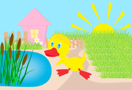 duckling,  all characters are on separate layers.  Vector