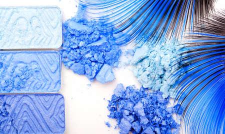 blue make-up eyeshadows  photo
