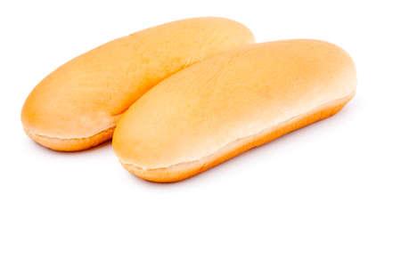 hot dog bun, isolated on white  photo