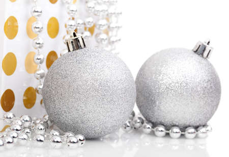 Christmas balls isolated on white  photo