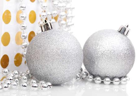 Christmas balls isolated on white  photo