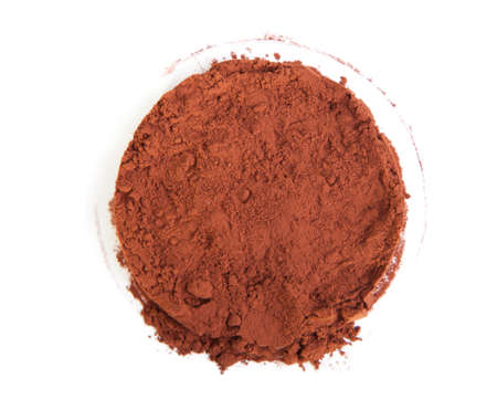 Cocoa powder on a white background photo