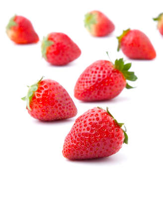 fresh strawberry, isolated on white background  photo