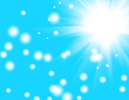 beautiful blue background with sun photo
