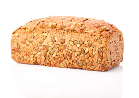 Fresh bread baked with seeds photo