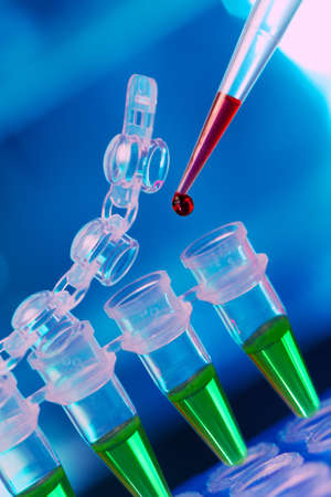 Loading of PCR samples in numbered plastic tubes Stock Photo - 15139174