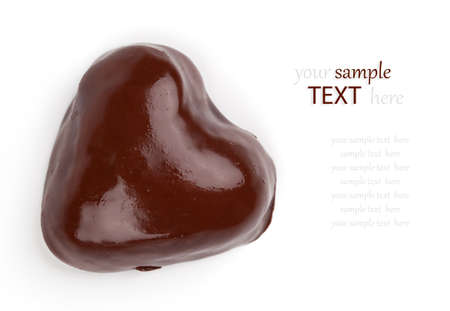 chocolate cookies in the shape of heart Stock Photo - 16846495