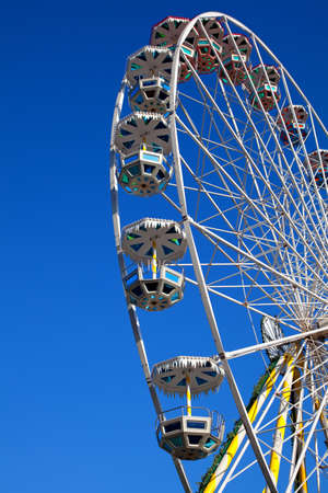 Attraction is the wheel of review on background blue sky Stock Photo - 17272121