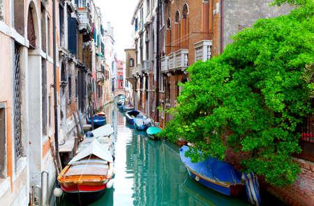 narrow old street of Venice, Italy. Stock Photo - 17374069