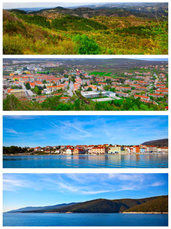 set of photo of the Istrian part of the Adriatic coast photo