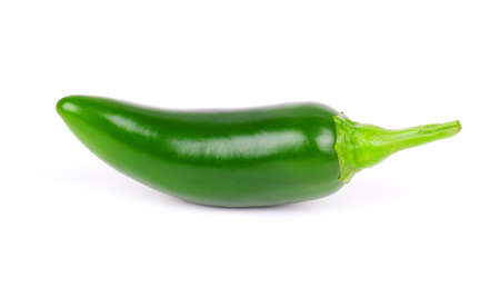 green Jalapeno pepper isolated on white photo