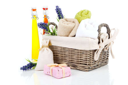 artigos de higiene pessoal: produtos de higiene pessoal para o relaxamento, isolado no fundo branco