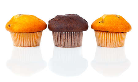 scone: sweet muffins on white background Stock Photo