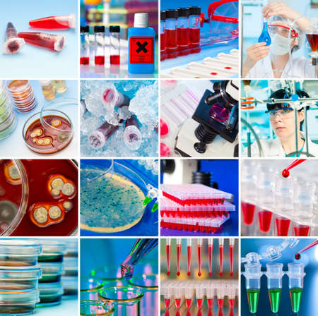 Laboratory Collage Фото со стока
