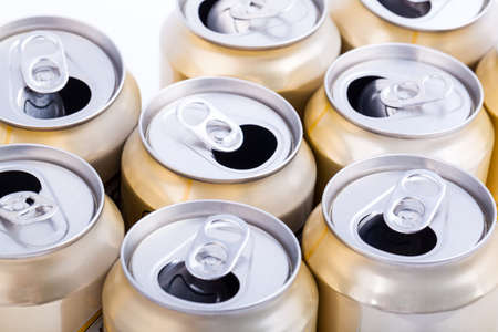 Aluminum beer cans photo