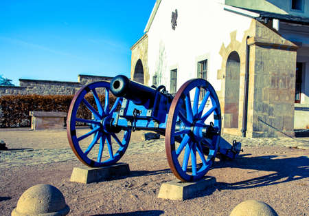 forbidding: A Napoleonic style civil war cannon and cais-son