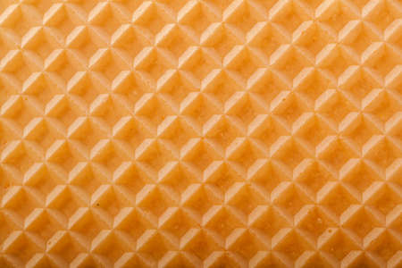 knurled: Wafer texture for background. Stock Photo