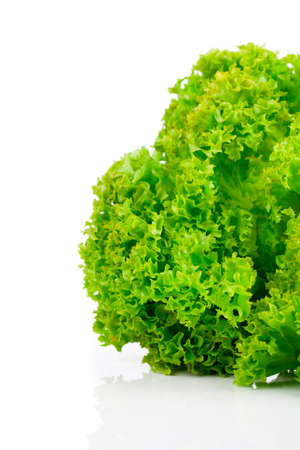 cornsalad: Fresh lettuce leaves isolated on white background