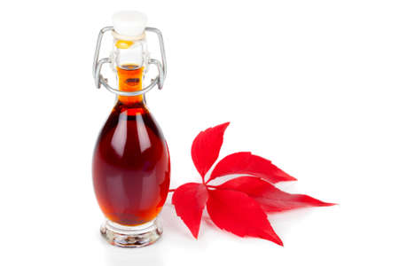 sorbus: bottle of drink, mixture on white background