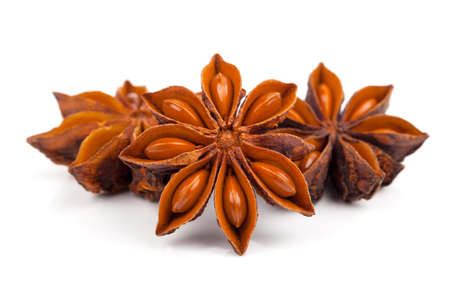 anice: Whole Star Anise isolated on white background