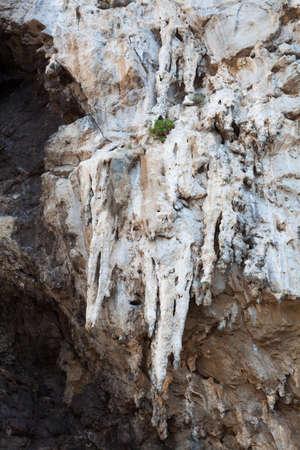 stalagmites: Stalactites and stalagmites Amalfi Coast, Italy. Stock Photo