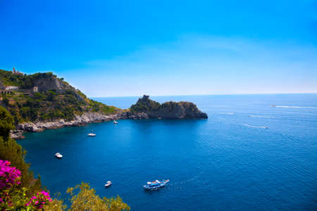View of the Amalfi Coast, Italy. Stock Photo