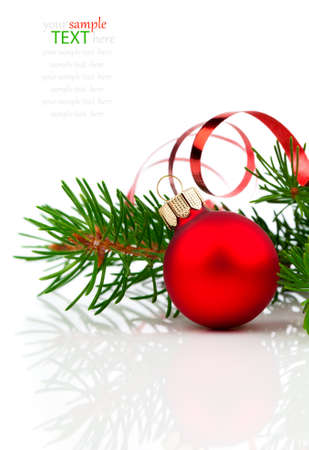 group of christmas baubles: christmas decoration isolated on white background Stock Photo